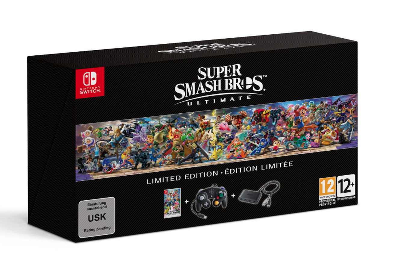 Super Smash Bros. Ultimate Limited Edition incluirá um controlador de GameCube